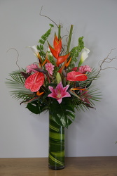 Tropical Blooms from Metropolitan Plant & Flower Exchange, local NJ florist