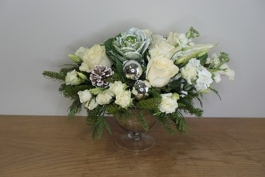 White Christmas from Metropolitan Plant & Flower Exchange, local NJ florist