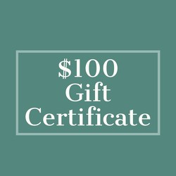 $100 Gift Certificate from Metropolitan Plant & Flower Exchange, local NJ florist