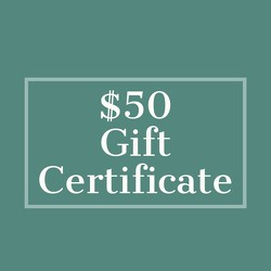 $50 Gift Certificate from Metropolitan Plant & Flower Exchange, local NJ florist