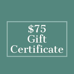 $75 Gift Certificate from Metropolitan Plant & Flower Exchange, local NJ florist