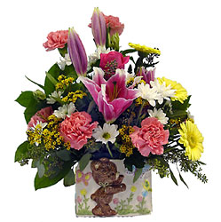 Welcome Baby Girl from Metropolitan Plant & Flower Exchange, local NJ florist