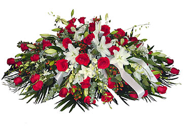 Casket Tribute from Metropolitan Plant & Flower Exchange, local NJ florist