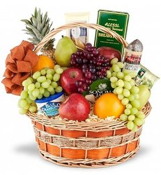 Gourmet & Fruit Basket from Metropolitan Plant & Flower Exchange, local NJ florist