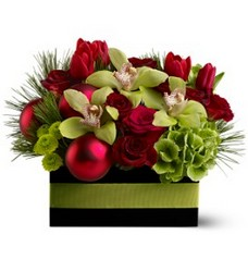Holiday Chic from Metropolitan Plant & Flower Exchange, local NJ florist