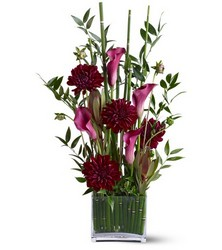 Callas in Grass from Metropolitan Plant & Flower Exchange, local NJ florist