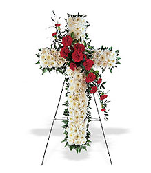 Hope & Honor Cross from Metropolitan Plant & Flower Exchange, local NJ florist
